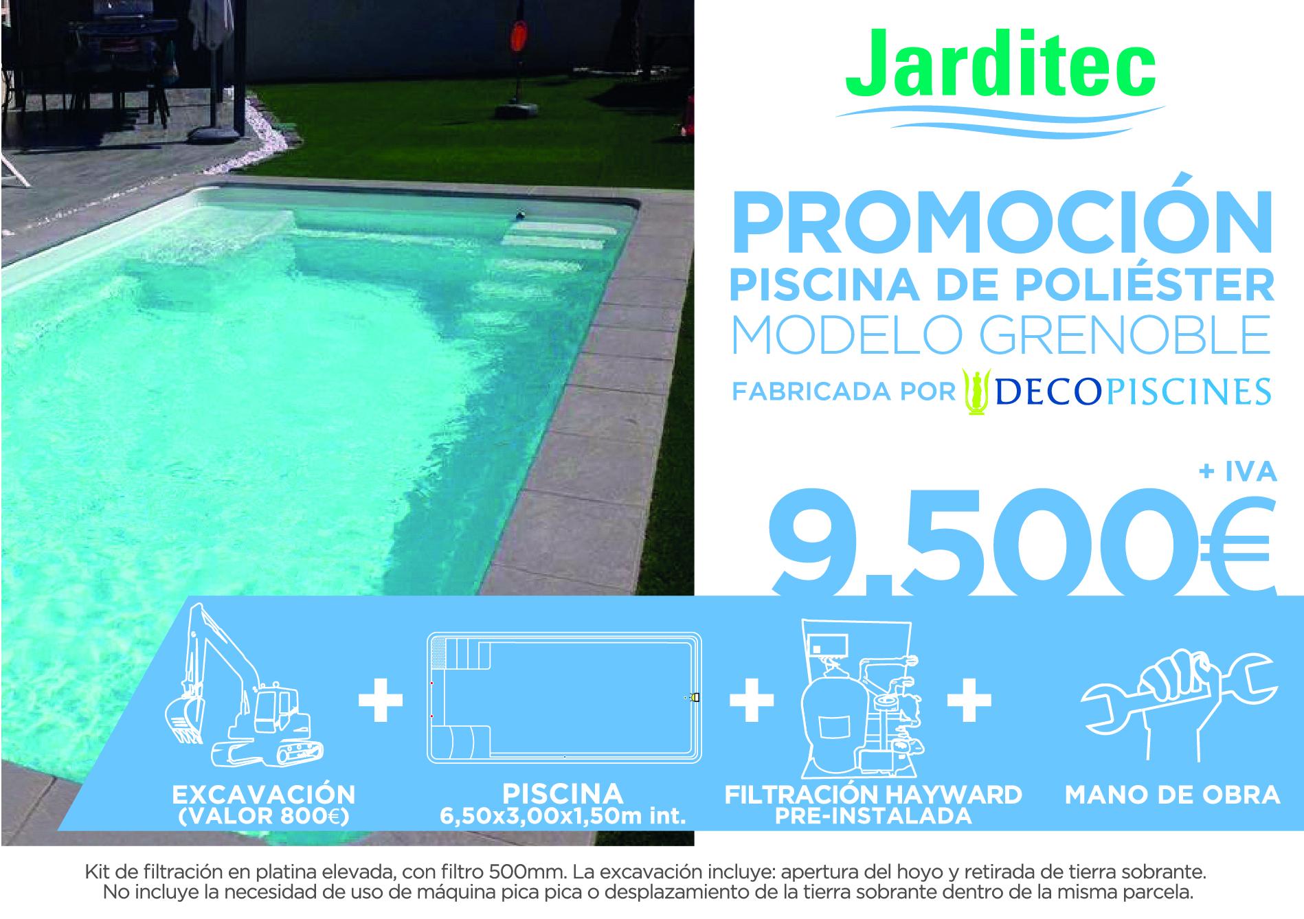 Oferta piscina de fibra jarditec for Ofertas de piscinas estructurales